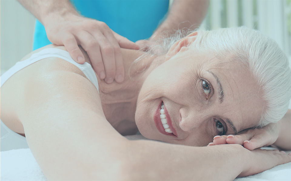 Elderly Woman Getting Massage