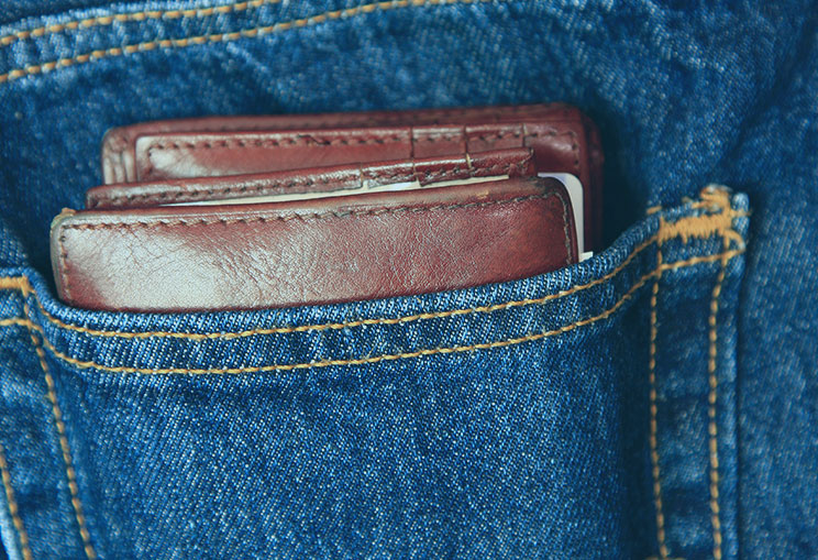 Jean With Wallet In Pocket